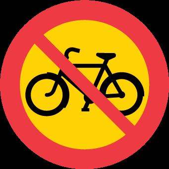 Förbud mot trafik med cykel och moped klass II