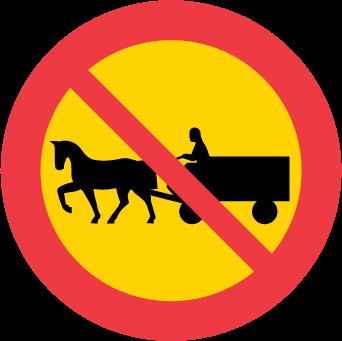 Förbud mot trafik med fordon förspänt med dragdjur