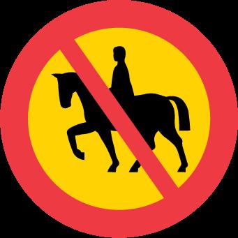 Förbud mot ridning