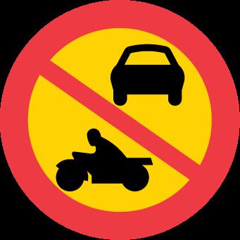 Förbud mot trafik med annat motordrivet fordon än moped klass II