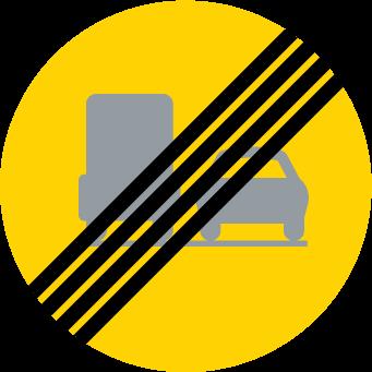 Slut på förbud mot omkörning med tung lastbil