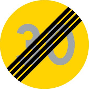 Tillfällig hastighetsbegränsning upphör