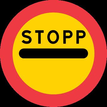 Stopp för angivet ändamål