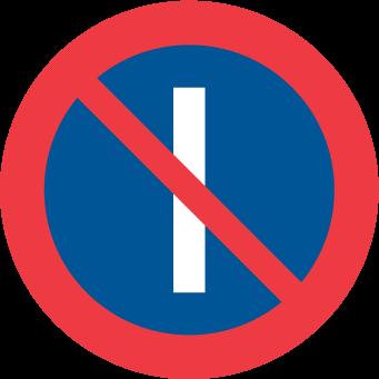 Förbud mot att parkera fordon på dag med udda datum