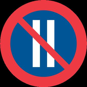 Förbud mot att parkera fordon på dag med jämnt datum