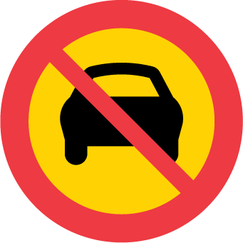 Förbud mot trafik med motordrivet fordon med fler än två hjul