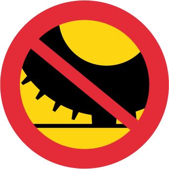 Förbud mot trafik med annat motordrivet fordon med dubbdäck än moped klass II