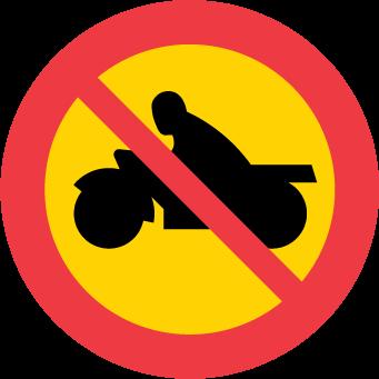 Förbud mot trafik med motorcykel och moped klass I