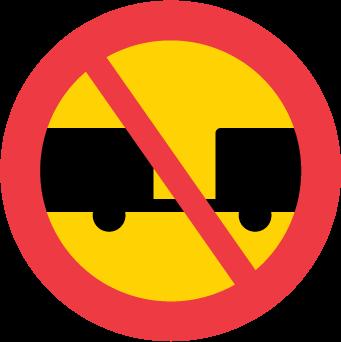 Förbud mot trafik med motordrivet fordon med tillkopplad släpvagn