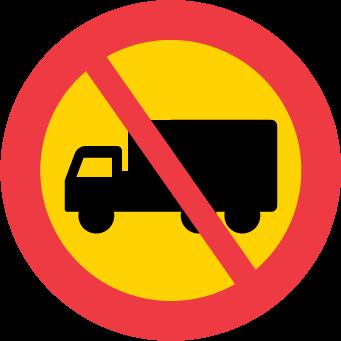 Förbud mot trafik med tung lastbil