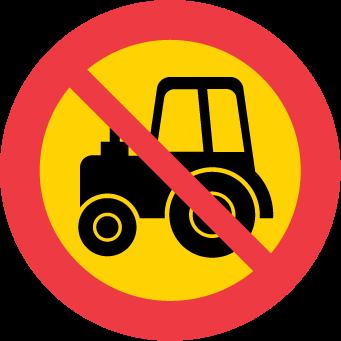 Förbud mot trafik med traktor och motorredskap klass II